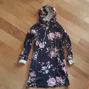 NWOT Floral Hoodie Dress